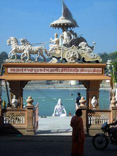 INDIA:  Parmarth Niketan, Rishikesh.