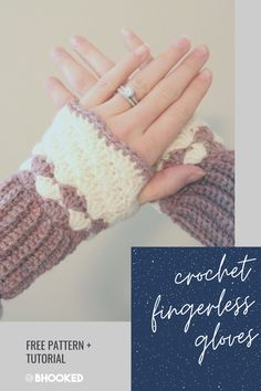 When your hands are cold but you need your fingers to type or crochet, you need a pair of shell stitch crochet fingerless gloves. They work up quick and are very warm.  #BHooked #Crochet #FreeCrochetPattern Crochet Fingerless Gloves Free Pattern, Crochet Mitts, Crochet Slipper Pattern, Mittens Pattern, Fingerless Mittens, Crochet Gloves, All Free Crochet, Easy Crochet Patterns, Crochet Ideas