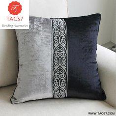 European Luxury Black Grey decorative throw pillow almofadas cojines decorativos cushions home decor seat chair cushion for sofa Sewing Pillows, Diy Pillows, Couch Pillows, Throw Pillows, Couch Throws, Lumbar Pillow, Sofa Bed, Couch Cushion Covers, Diy Pillow Covers