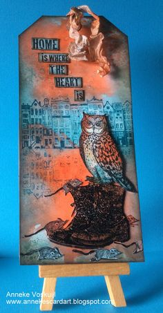 "Art Journey Design-team: Tag ""Home"" Atc Cards, Card Tags, Gift Tags, Cards Diy, Art Trading Cards, Handmade Tags, Paper Tags, Animal Cards, Art Journal Inspiration"
