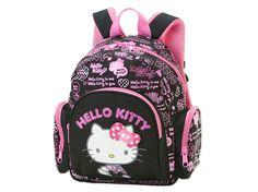Hello Kitty School Kids Backpack Black Logo Small Size SANRIO