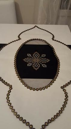 Handmade Crafts, Embroidery Stitches, Stencils, Gold Necklace, Chain, Diamond, Create, Couture, Salons