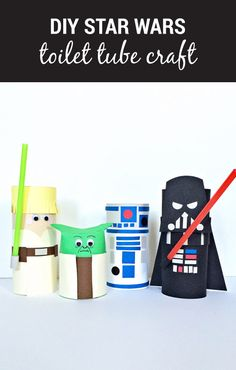 When it comes to playtime—let's get creative! Your older kids will love helping you create this DIY Star Wars Toilet Tube Craft based on their favorite movie characters.