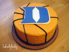 Duke University Basketball Grooms Cake. (Unfortunately it would  be a brides cake. Just for me.)