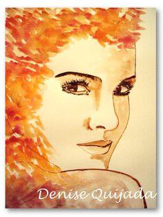 Acuarela, watercolor, Denise Quijada