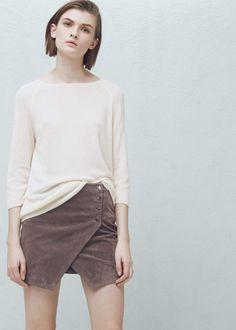 Rippenpullover - Cardigans und pullover für Damen   MANGO