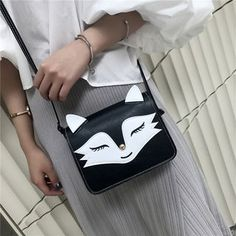 Buy Diamante Fox-Shaped Faux-Leather Shoulder Bag at YesStyle.com! Quality products at remarkable prices. FREE Worldwide Shipping available!
