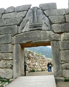 Brama Lwic w Mykenach, 1250 BC