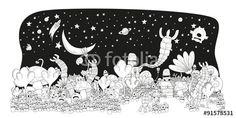 Vector: Kids cartoon world of war print poster design #fotolia #illustration #fantasy #world #monsters #children #kids #happy #fun #land #flowers #party #cover #print #poster #card #postal