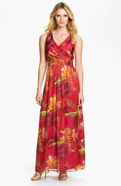 Donna Ricco Surplice Print Maxi Dress available at #Nordstrom