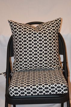 geometric print seat cushion cover kitchen chair pad gunmetal blue