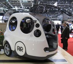 The AirPod is a three-seat and three-wheel car that runs on compressed air.