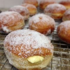 Sugar Dusted Donuts with Vanilla Custard Filling