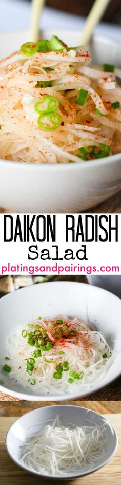Frugal Food Items - How To Prepare Dinner And Luxuriate In Delightful Meals Without Having Shelling Out A Fortune Daikon Radish Salad Radish Recipes, Veggie Recipes, Asian Recipes, Vegetarian Recipes, Cooking Recipes, Healthy Recipes, Szechuan Recipes, Cantaloupe Recipes, Salada Light