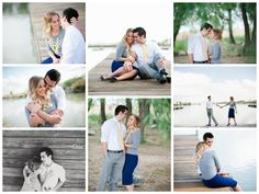 Engagement photos for a nautical themed wedding.