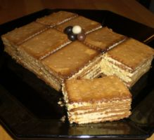 """Cake with """"thé brun"""" biscuits Cafe Creme, Healthy Lunches For Work, Food Cakes, Easy Snacks, Biscuits, Delicious Desserts, Cake Recipes, Bakery, Deserts"""