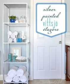 DIY Bathroom Étagère - Top 60 Furniture Makeover DIY Projects and Negotiation Secrets