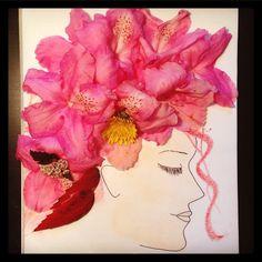 #inspiration #floral #inspirationfliral #art #flower #girl #pink #illustration #illustrator #artwork #drawing #sketch #women #free #creative #imagination #doodle #painting #fashion #facethefoliage