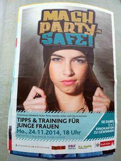 #Litfaßsäule #Poster #Plakat #Mach Party safe!