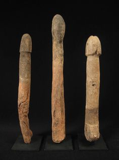 Wood phallus, legba, Fon, Togo/Benin - These were placed in the ground to stimulate the growth of crops. 19th century.
