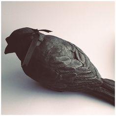 Blindsided Plaster bird sculpture by Darla by alfalfalovesme, $300.00