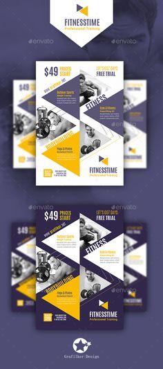 Buy Fitness Time Flyer Templates by grafilker on GraphicRiver. Fitness Time Flyer Templates Fully layered INDD Fully layered PSD 300 Dpi, CMYK IDML format open Indesign or late. Corporate Flyer, Business Flyer, Brochure Design, Flyer Design, Program Design, Banner Template, Flyer Template, Marathon, Fitness Flyer