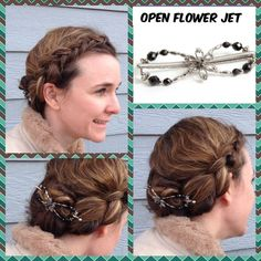 Beautiful hair style, isn't it? Lilla Rose open flower flexi clip. http://lillarose.biz/rrobinson
