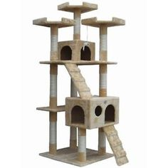 Cat-Tree-Furniture-Post-Scratcher-House-Toy-Play-Tower-Perch-Pet-Kittens