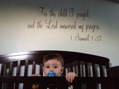 love this verse over the crib!