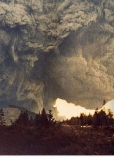 Mt St Helens - May 1981, beautiful but deadly.  Washington will never be the same.