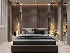 40 If You Read Nothing Else Today, Read This Report on Luxury Taupe Grey Bedroom Decor - decoruntold Luxury Bedroom Design, Master Bedroom Design, Grey Bedroom With Pop Of Color, Grey Bedroom Decor, Trendy Bedroom, Bedroom Layouts, Suites, Contemporary Bedroom, Bedroom Modern