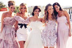 FUN Blush Bridesmaids Gowns