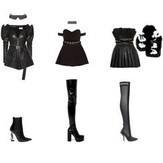 A fashion look created by Ann Verleyen featuring Crystal Belt, Crystal Emoderies Corset, Textured-Knit Mini Skirt, Pleated Leather Mini Skirt. Browse and shop related looks. Kpop Fashion Outfits, Stage Outfits, Crystal Belt, Leather Mini Skirts, Fashion Looks, Stylists, Kpop Groups, Heels, Girl Group