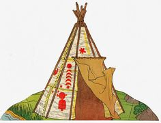 vintage native american paper doll playset by quercus design, via Flickr