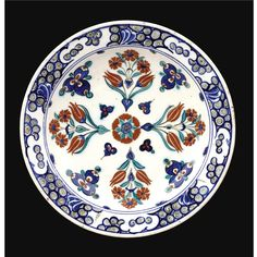 An Iznik Polychrome Cintamani Dish, Turkey, <P>circa 1580</P>   Lot   Sotheby's