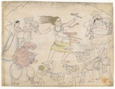 Shiva's Twilight Dance  India, Himachal Pradesh, Guler, circa 1775-1800  Drawings; Ink and opaque watercolor on paper  (via LACMA Collections)