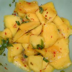 "Spicy Mango Salad I ""This was great!! I served it at a bar-b-que. A wonderful summer side dish."""