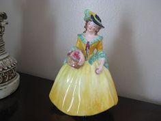 """Vintage Coalport England EDYTH Lady 5 3/4"""" Figurine"""