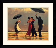 "0-003054>33x28"" Jack Vettriano The Singing Butler Framed Print"