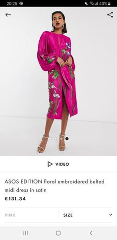 ASOS EDITION floral embroidered belted midi dress in satin Shop Now, Your Style, Asos, Kimono Top, Satin, Floral, Dresses, Women, Fashion
