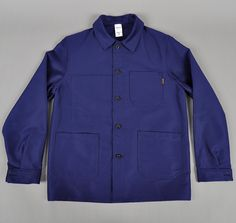 """BLEU DE TRAVAIL"" FRENCH WORK JACKET, BLUE :: HICKOREE'S"