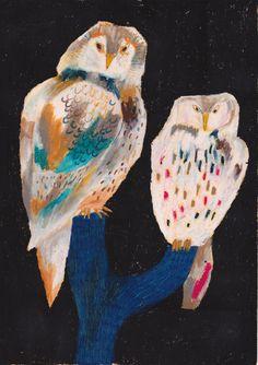 animal 2014.02 by machiko kaede, via Behance. FANTASTIC oil pastel-looking drawings of various animals.