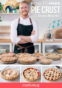 Holiday pies are beloved by all, but they can be particularly challenging to do well. Join pie enthusiast Devlin Mannle as he shares his mother's recipe for the perfect flaky pie crust, walking you through every step just like he's in the kitchen beside you.