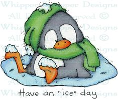 Iceday Penguin - Penguins - Animals - Rubber Stamps - Shop