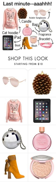 """""""Last minute"""" by texaspinkfox ❤ liked on Polyvore featuring Full Tilt, Luminara, Griffin, Estée Lauder, Chloé, Swarovski and polyPresents"""