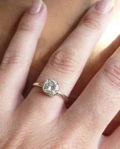 GORGEOUS: Cushion Cut Moissanite Engagement Ring.