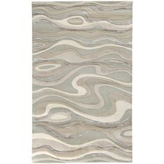 Candice Olson Hand-tufted Zagros Abstract Waves Wool Rug x