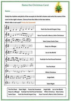 MUSIC: NAME THE CHRISTMAS CAROL    $