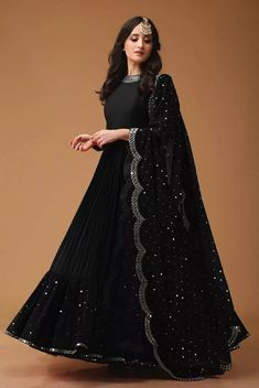Dec 2019 - Find most amazing black lehenga designs for your bridal parties here and bold your beauty. Check the exclusively curated list of latest black lehengas. Indian Fashion Dresses, Indian Gowns Dresses, Dress Indian Style, Indian Designer Outfits, Indian Outfits, Muslim Fashion, Wedding Lehenga Designs, Designer Bridal Lehenga, Kurti Designs Party Wear
