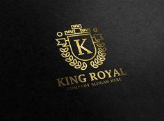 King Royal Logo by CreativeDezing on @creativemarket